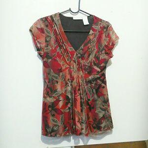 Worthington, floral, V-neck, blouse!!